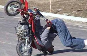 падение с мотоцикла 1