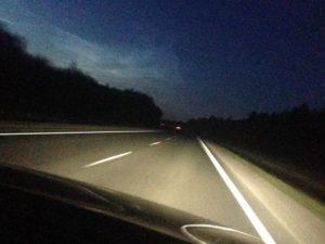вождение авто ночью